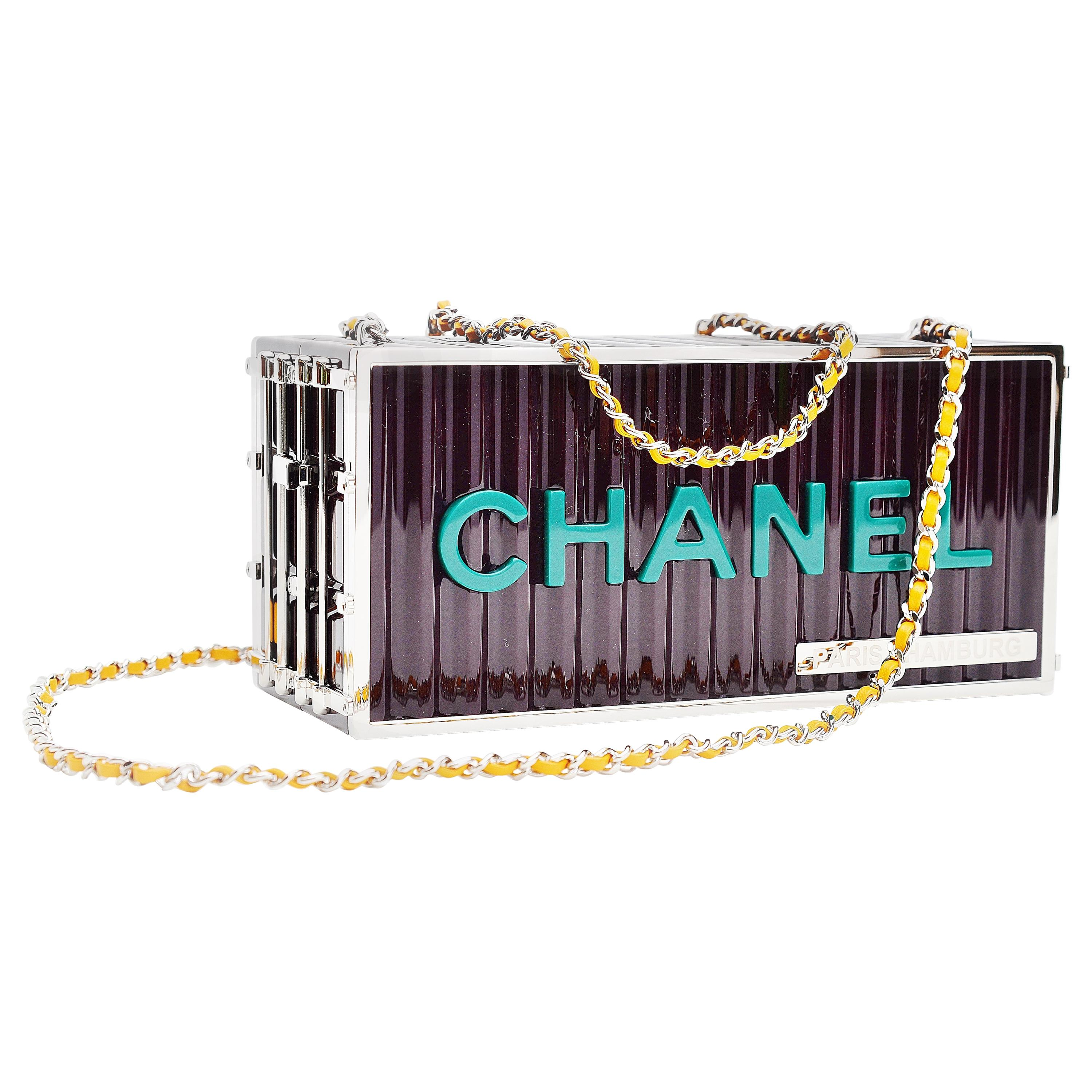 Chanel Runway Container Clutch / Shoulder Bag Karl Lagerfeld NEW