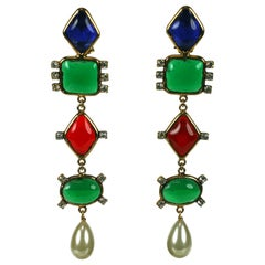Chanel Runway Earrings, Maison Gripoix