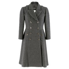 Chanel Runway Grey Wool & Cashmere Coat SIZE FR38