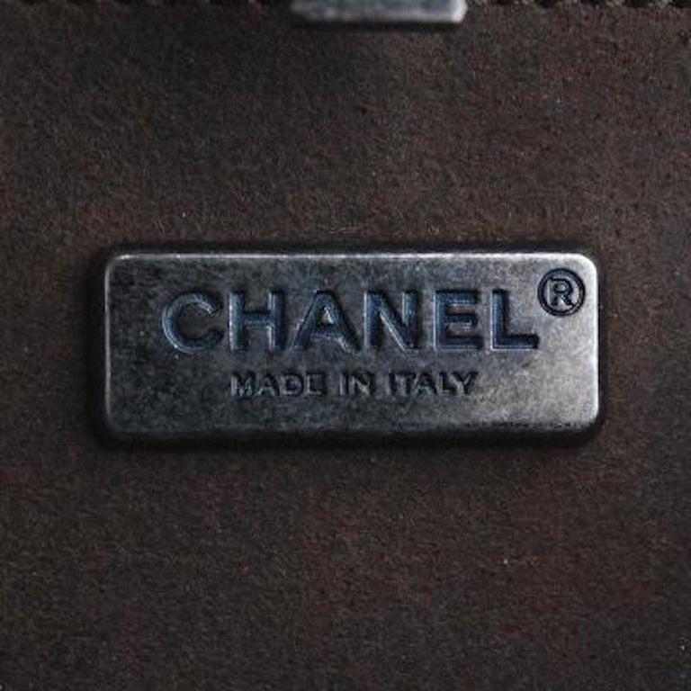 Chanel Runway Gunmetal Gray Metal Canteen Evening Clutch Shoulder Bag For Sale 2