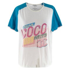 Chanel Runway White Cotton Cuba Libre T-shirt - Size M