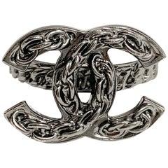 CHANEL Ruthenium Chain CC Ring