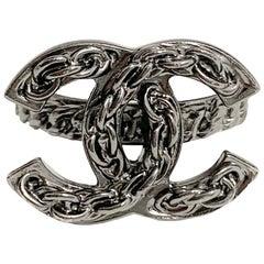 CHANEL Ruthenium Chain Ring CC
