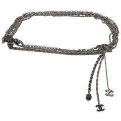 CHANEL Ruthenium Multi-Chain Belt