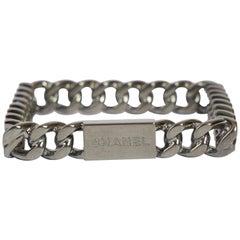 Chanel Ruthenium Square Chain Bangle
