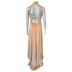 Chanel S/S 2003 Embellished Cut-Out Plunging Open Back Evening Dress Gown