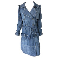 Chanel S/S 2008 Runway Denim Jacket Trench Coat