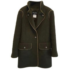 Chanel Salzburg Khaki Wool Coat