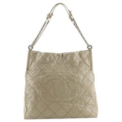 Chanel Sea Hit Shoulder Bag Quilted Iridescent Calfskin Large