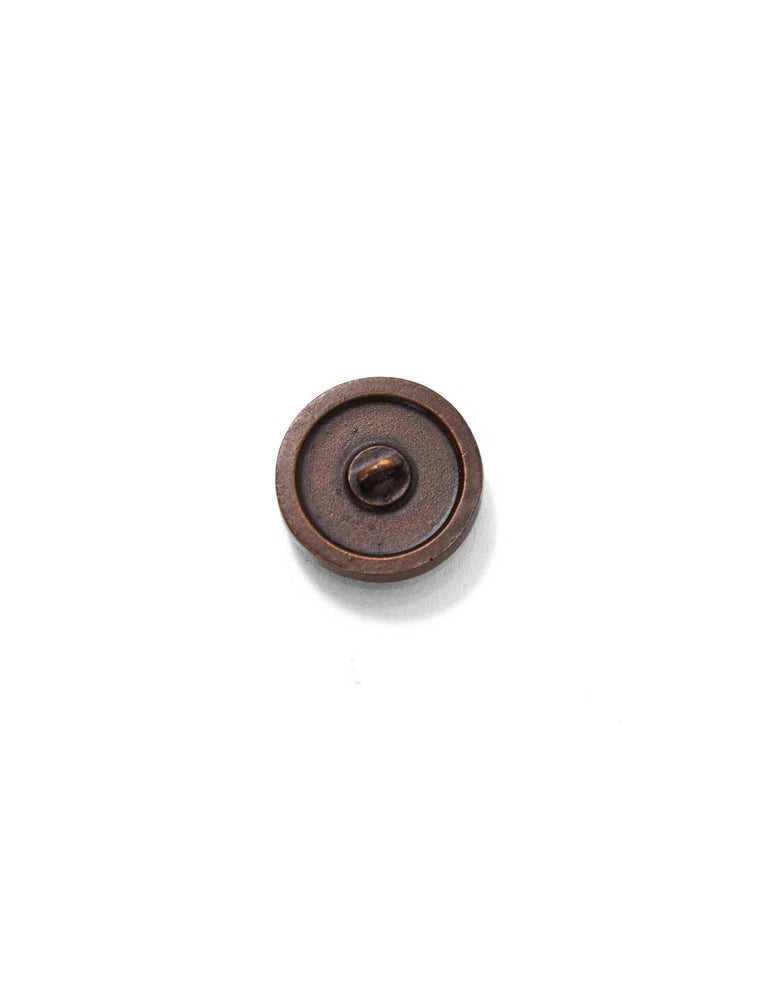 Black Chanel Set of Four 18/20mm Coppertone Textured CC Buttons For Sale