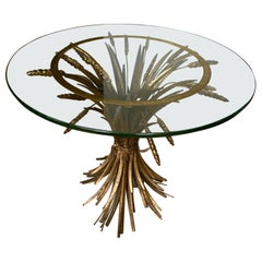 Chanel Sheaf of Wheat Gilt Table, France, 1950