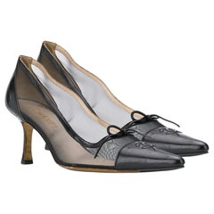 Chanel Sheer Mesh Pointed Pumps
