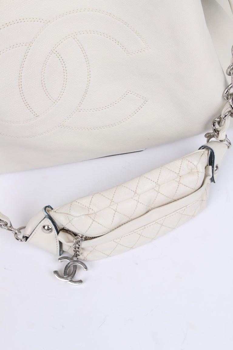 Beige Chanel Shopper Bag - off-white For Sale