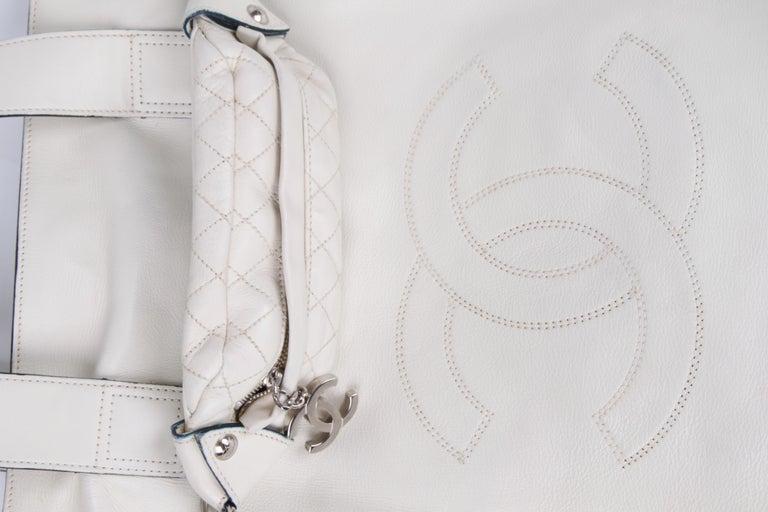 Women's or Men's Chanel Shopper Bag - off-white For Sale