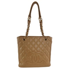 Chanel, Shopping bag in brown leather