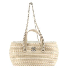 Chanel Shopping Tote Woven Straw Small