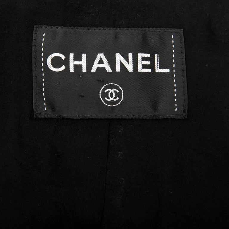 CHANEL Short Jacket with 3/4 Sleeves in Black Sequins Size 34FR For Sale 2
