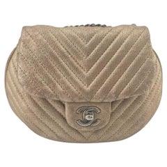 CHANEL Shoulder bag in Gold Leather
