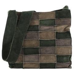 Chanel Shoulder Bag Suede Patchwork Medium