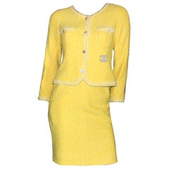 CHANEL Signature Lesage Fantasy Tweed CC Logo Skirt Suit as seen on Lady Di