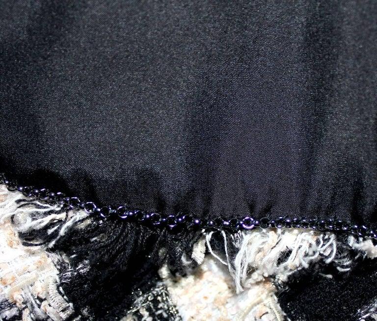 Chanel Signature Lesage Houndstooth Pied de Poule Fantasy Tweed Skirt Suit For Sale 2