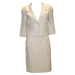 Chanel Silk and Cotton Skirt Suit