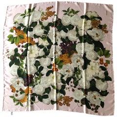 Chanel Silk Floral  Scarf