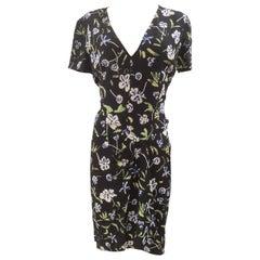 Chanel silk flower dress