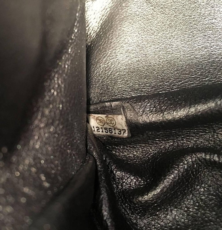 Chanel Silver Aged Calfskin 2.55 Reissue 227 Double Flap Classic Shoulder Bag For Sale 7