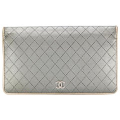 Chanel Silver and Gold Wallet