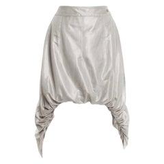 CHANEL Silver Grey Mesh Asymmetric Skirt - Special Piece!