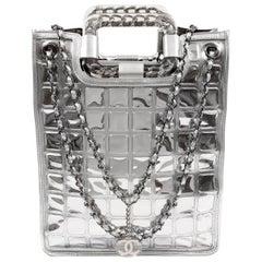 Chanel Silver Ice Cube Shopper Tote