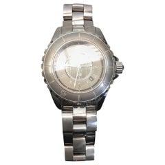Chanel Silver 'J12' Watch