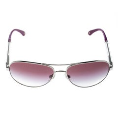 Chanel Silver/Purple Gradient 4179 Miroir Aviator Sunglasses