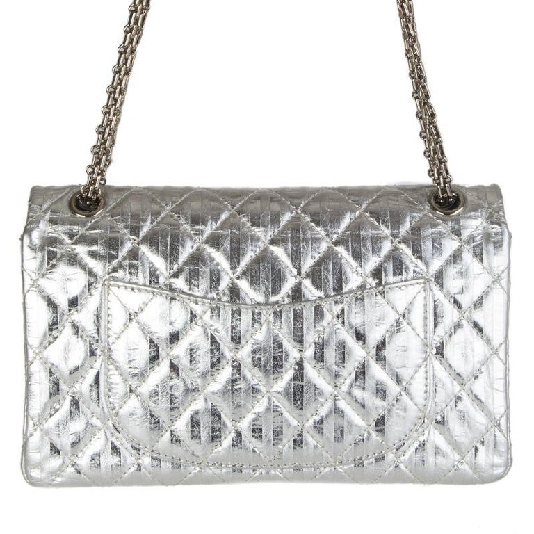 17c3e45cbe1a Silver Chanel silver quilted leather 2.25 REISSUE LIMITED EDITION Flap  Shoulder Bag For Sale