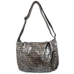Chanel silver Rue de Cambon shoulder bag
