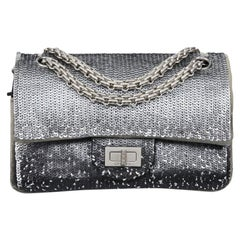 Chanel Silver Sequins 2.55 Bag