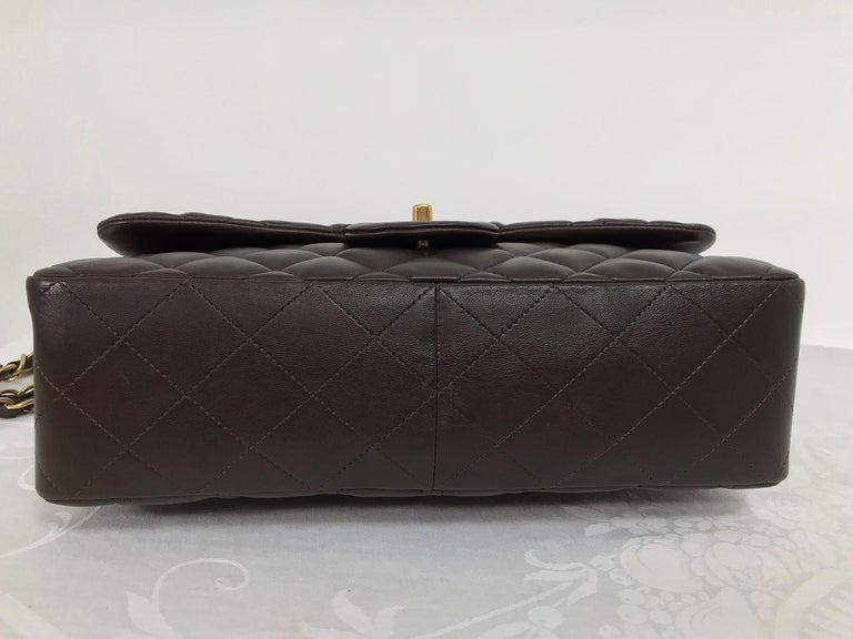 Chanel Single Flap Jumbo Brown Quilted Leather Handbag 2010-11 NWOT 2