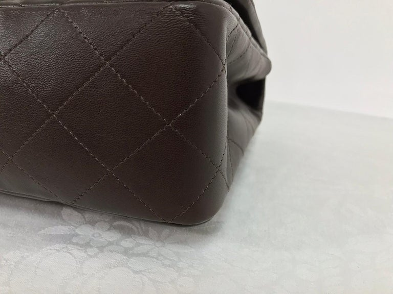 Chanel Single Flap Jumbo Brown Quilted Leather Handbag 2010-11 NWOT 4