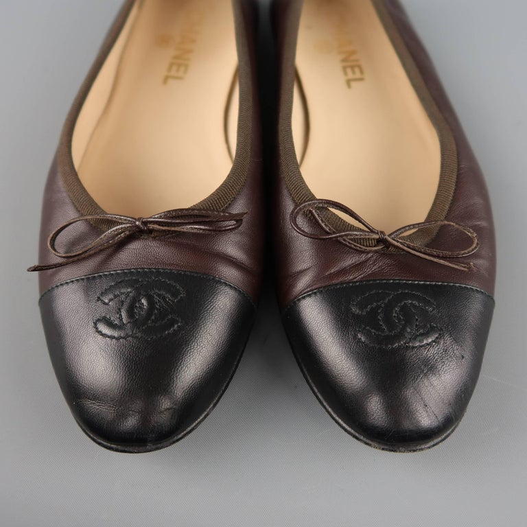 Chanel Leather Classic Cc Ballet Flats Shoes