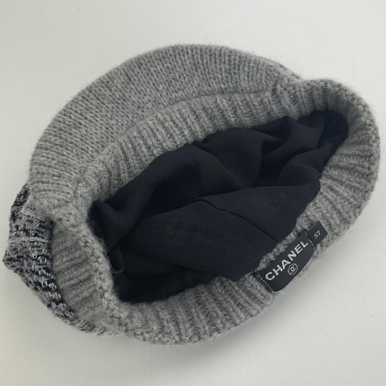 Women's CHANEL Size 57 Cashmere Cap For Sale