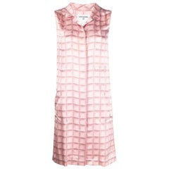 Chanel Sleeveless Pink Shirt Dress