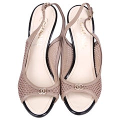 Chanel Slingback Pumps - taupe