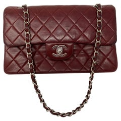 Chanel Small Burgundy Double Flap