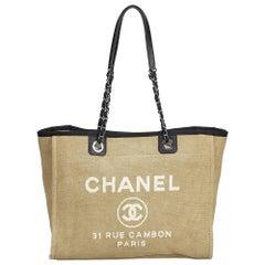 Chanel Small Deauville Logo Tote