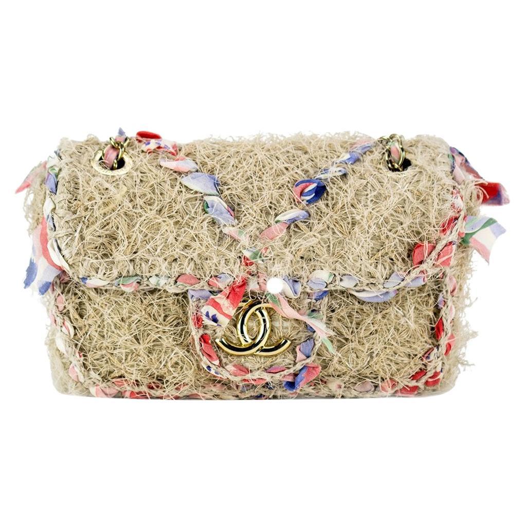 Chanel Small Multicolor Organic Crossbody Flap Bag