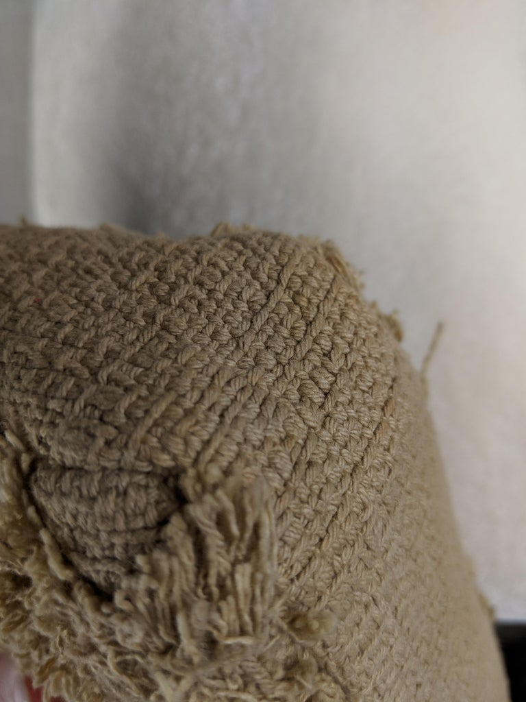 Chanel Small Sized Beige Tweed Fringe Organic Crochet Crossbody Flap Bag For Sale 7