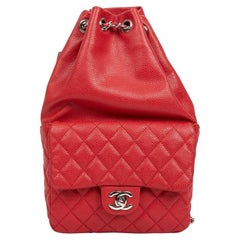 CHANEL SmallBackpack in Grained Red Leather