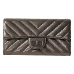 Chanel So Black Chevron Reissue Wallet