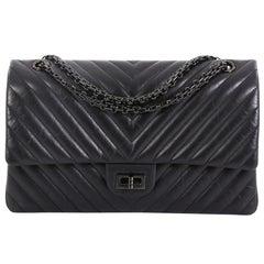 3def716575ad12 Chanel So Black Reissue 2.55 Flap Bag Chevron Aged Calfskin 226